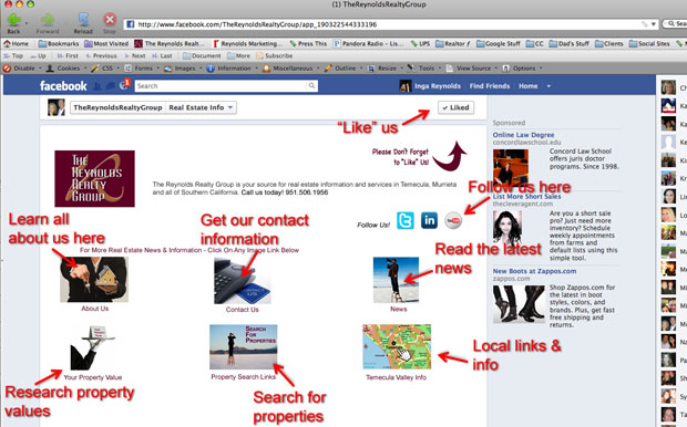 New Facebook landing page2